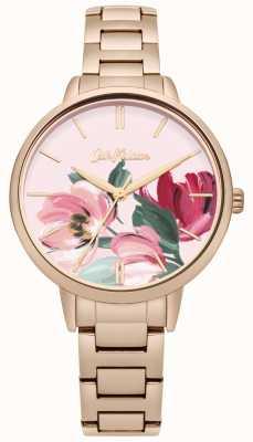Cath Kidston Cadran imprimé floral en or rose CKL050RGM