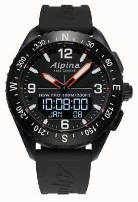 Alpina Bracelet en caoutchouc noir Alpinerx smartwatch AL-283LBB5AQ6