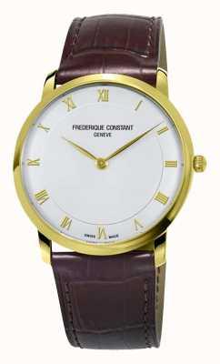 Frederique Constant Boitier slim en quartz doré pour homme FC-200RS5S35