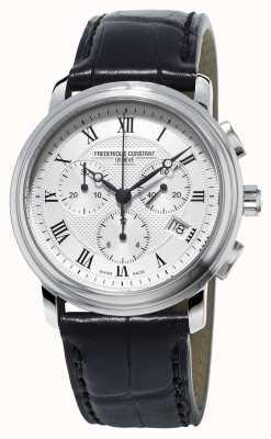 Frederique Constant Chronographe classique pour homme en cuir noir FC-292MC4P6