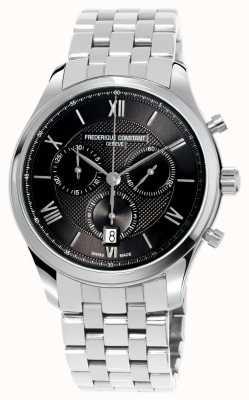 Frederique Constant Bracelet chronographe classique en acier inoxydable pour homme FC-292MG5B6B
