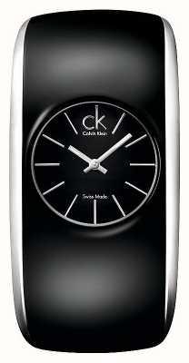 Calvin Klein Petite montre noire brillante pour femmes K6095101