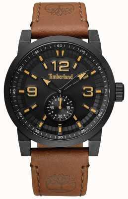Timberland Cadran et étui en cuir noir camel duxbury pour homme TBL.15475JSB/02