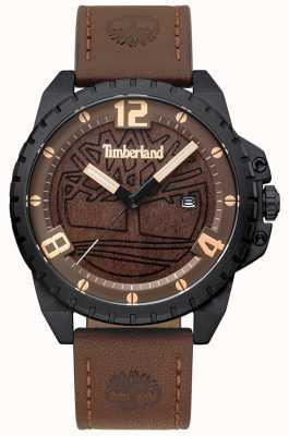 Timberland Cadran Homme Eastford en cuir marron foncé noir cadran bois brun TBL.15513JSB/12