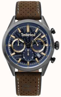 Timberland Cadran en cuir marron foncé pour homme randolph bleu TBL.15476JSU/03