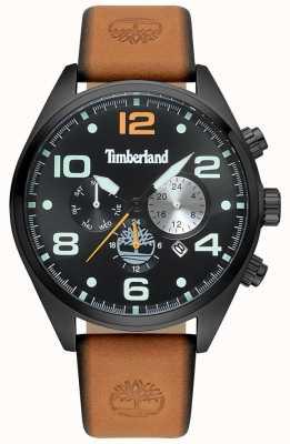 Timberland Bracelet cuir noir et blanc pour homme TBL.15477JSB/02