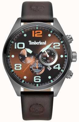 Timberland Cadran brun en cuir marron pour homme TBL.15477JSU/12