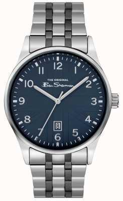 Ben Sherman Bracelet acier inoxydable cadran blanc mat pour homme BS017USM