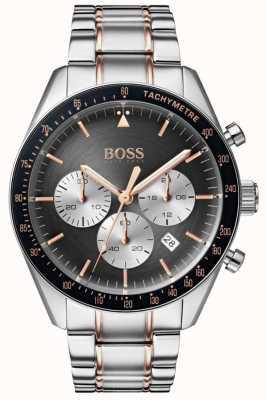 Boss Montre trophée pour homme gris cadran chronographe en acier inoxydable 1513634