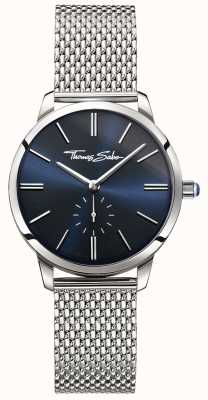 Thomas Sabo Womens glam esprit en acier inoxydable bracelet en maille bracelet bleu WA0301-201-209-33
