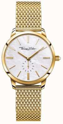 Thomas Sabo Womens glam esprit or maille bracelet bracelet blanc cadran WA0302-264-213-33