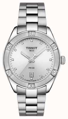 Tissot Mesdames pr 100 sport chic diamond set date affichage T1019101103600