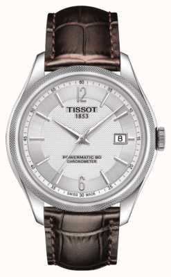 Tissot Ballade powermatic 80 cosc chronomètre bracelet en cuir marron T1084081603700