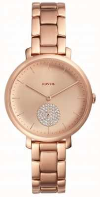 Fossil Montre femme en or rose avec bracelet en or rose ES4438