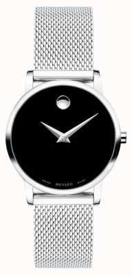 Movado Womens musée en acier inoxydable bracelet en maille 0607220