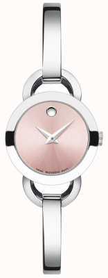 Movado Womens rondiro bracelet en acier inoxydable bracelet rose 0606797