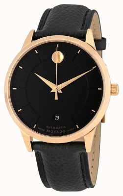Movado Mens 1881 automatique en cuir plaqué or rose 0607062