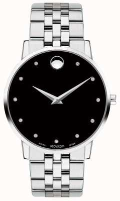 Movado Bracelet en acier inoxydable avec cadran en diamant 0607201