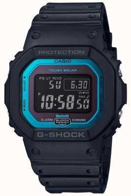 Casio Bande de résine radiocommandée Bluetooth G-shock, noir / bleu GW-B5600-2ER