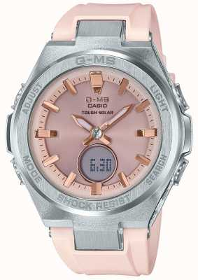 Casio G-ms bébé-g dur bracelet en caoutchouc rose solaire MSG-S200-4AER