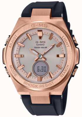 Casio G-ms bébé-g rose or dur bracelet noir solaire MSG-S200G-1AER