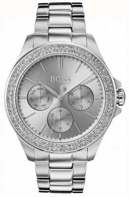 Hugo Boss Womens premiere set de cristal en acier inoxydable 1502442