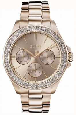 Hugo Boss Womens premiere cristal plaqué or bracelet 1502443