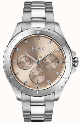Boss Bracelet en acier inoxydable premier cadran bronze pour femme 1502444
