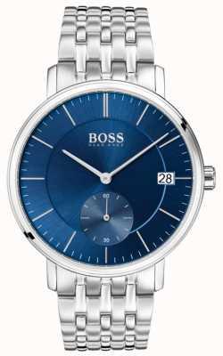 Boss Cadran bleu en acier inoxydable pour hommes 1513642