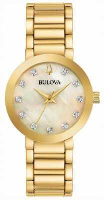 Bulova Montre en plaqué or pvd pour femme 97P133