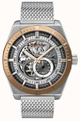 Hugo Boss Bracelet en acier inoxydable squelette automatique pour homme 1513657