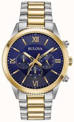 Bulova Montre chronographe femme | bracelet en acier inoxydable | 98A220