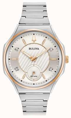 Bulova | curv | les femmes | bracelet en acier inoxydable | 98P182
