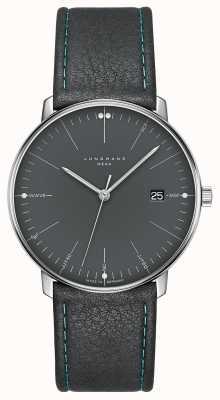 Junghans Bracelet en cuir gris gris méga facture 058/4823.00