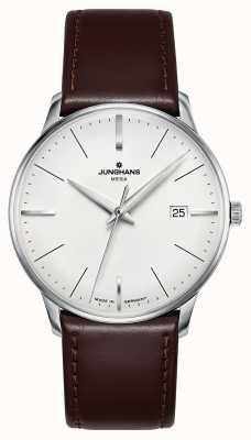 Junghans Bracelet en cuir marron meister mega mf 058/4800.00