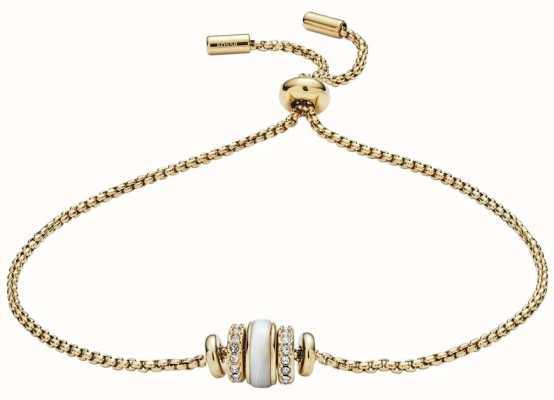 Fossil Bracelet de perles de coquille de ton or femmes JF02956710