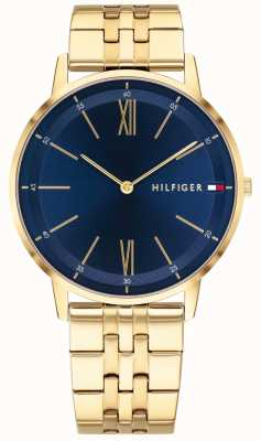 Tommy Hilfiger Cooper | bracelet plaqué or | cadran bleu 1791513