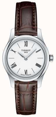 Tissot Tradition féminine 5.5 montre femme bracelet en cuir marron T0630091601800