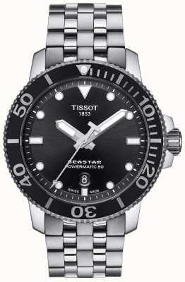 Tissot Seastar homme 1000 powermatic 80 cadran noir en acier inoxydable T1204071105100