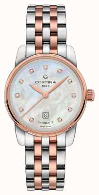 Certina Womens ds podium dame automatique deux tons bracelet C0010072211600