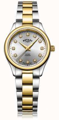 Rotary Montre femme à diamants oxford deux diamants LB05093/44/D