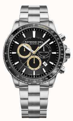 Raymond Weil Bracelet homme en acier inoxydable 300 montre chrono en acier inoxydable 8570-ST1-20701