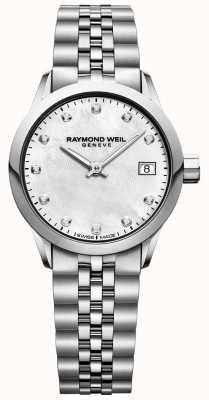 Raymond Weil Montre pour femme avec cadran en nacre et diamant 5626-ST-97081