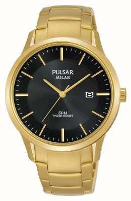 Pulsar Cadran de date solaire plaqué or pour homme PX3162X1