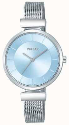 Pulsar Bracelet en acier inoxydable pour femme, cadran bleu clair PH8411X1