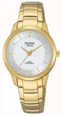 Pulsar Cadran argenté plaqué or pour femme PY5042X1