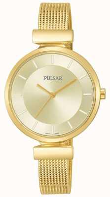 Pulsar Mesdames doré ton acier inoxydable montre en maille PH8412X1
