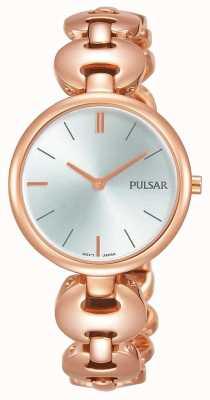 Pulsar Mesdames rose plaqué or montre cadran argent PM2268X1