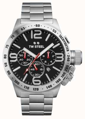 TW Steel Cantine homme chronographe 50mm inox CB8