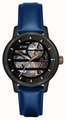 Weird Ape Rosalind noir or rose / cuir bleu indiglo WA02-005801